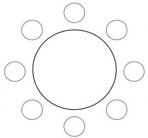 公務員数的処理KOMAROコマロ 判断推理 位置  問題3 図1