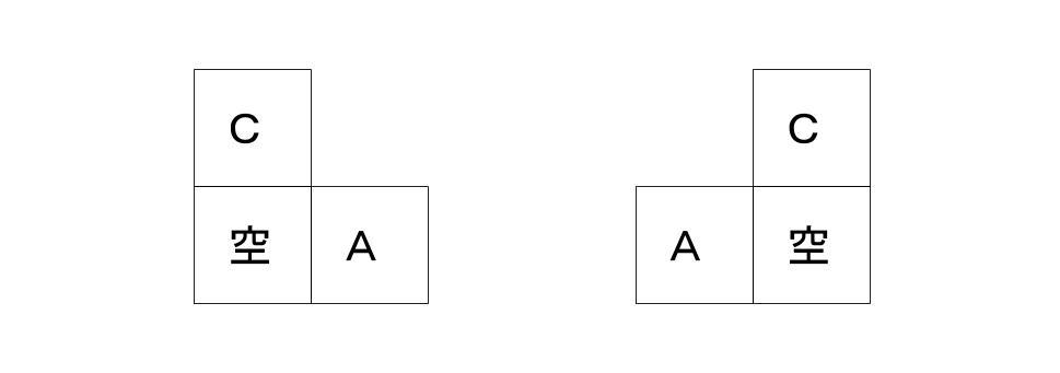 公務員数的処理KOMAROコマロ 判断推理 位置  問題1 図2