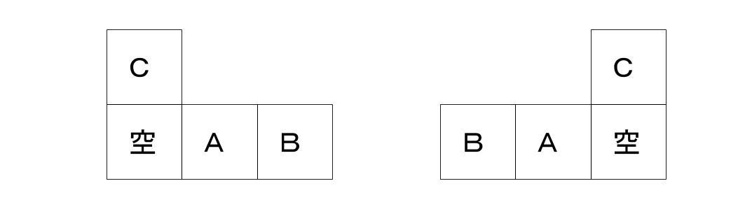 公務員数的処理KOMAROコマロ 判断推理 位置  問題1 図3